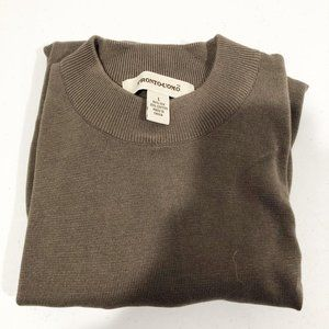 Pronto Uomo | Olive Green Silk Blend Sweater